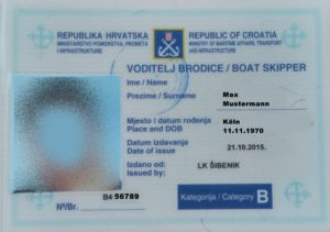 kroatischer Bootsführerschein B