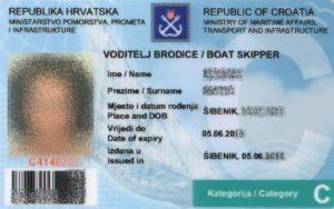 kroatische Bootsführerscheine C