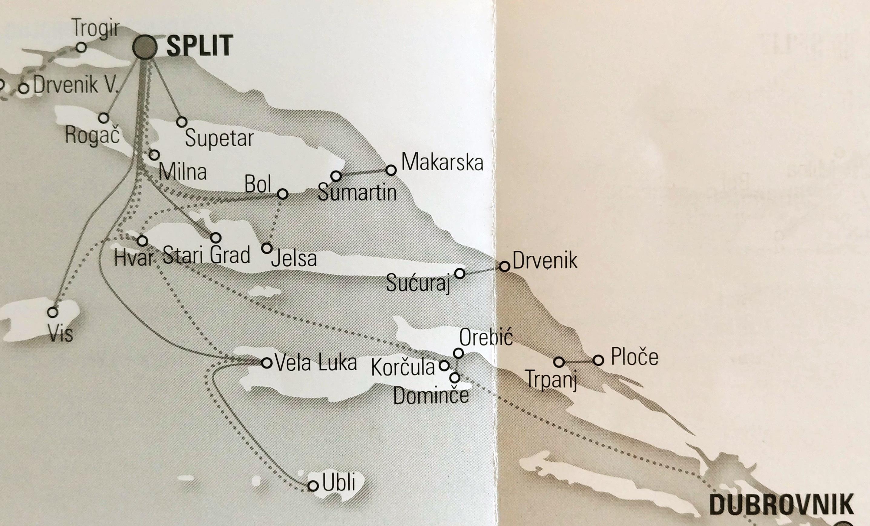 Jadrolinija Split kroatien mit der fähre erkunden