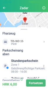 parkgebühren kroatien online bezahlen